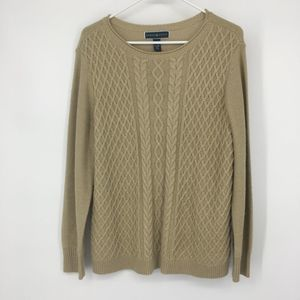 Karen Scott Cable Knit Sparkle Sweater